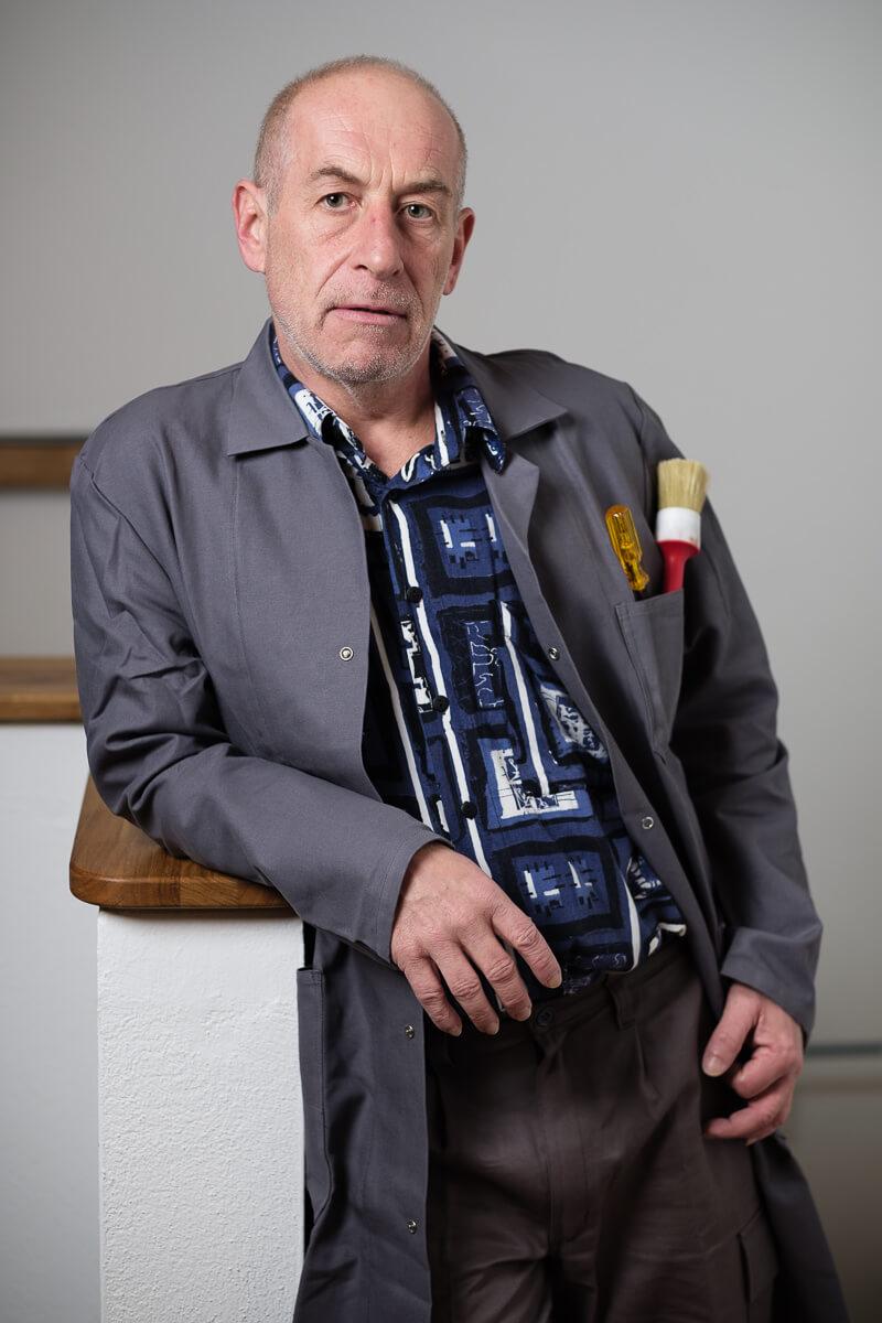 Abb. Josef Lippschik, Hausmeister in Toni's Hotel